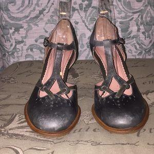 Miss Albright Vintage T-Strap Heels